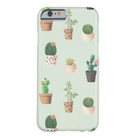 Cute Cactus Pattern Barely There iPhone 6 Case
