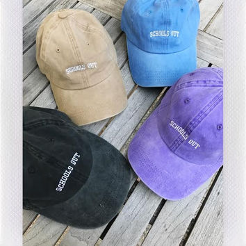 URBAN STRANGERS DISTRESSED HAT- SCHOOLS OUT