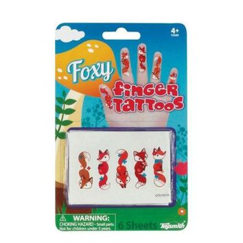Foxy Temporary Finger Tattoos ( Case of 36 )