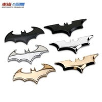 3D Cool Metal bat auto logo car styling car stickers metal batman badge emblem tail decal motorcycle car accessories