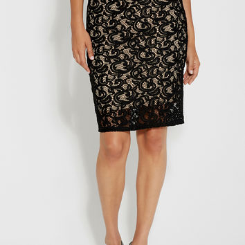 lacy pencil skirt