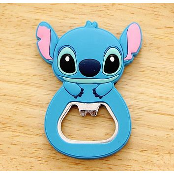 NEW Kawaii Lilo Stitch Beer Bottle Opener , Stainless Steel 6*4CM Beer Bottle Opener Bottle Beer Opener Helper