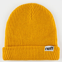 Neff Fold Beanie Mustard One Size For Men 16452362001