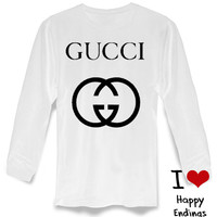 Gucci Sweater Black and White Sweatshirt Crewneck Men or Women Unisex long sleeve on S-3XL heppy feed.