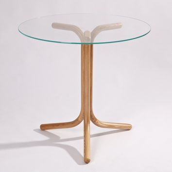 Lilian Round Dining Table - Glass Top | GFURN