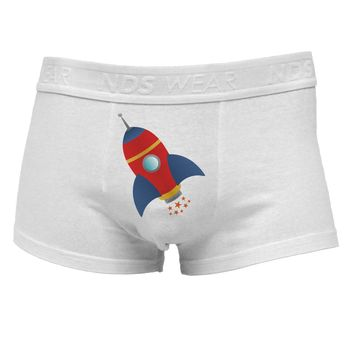 Space Rocket Ship and Stars Mens Cotton Trunk Underwear by TooLoud