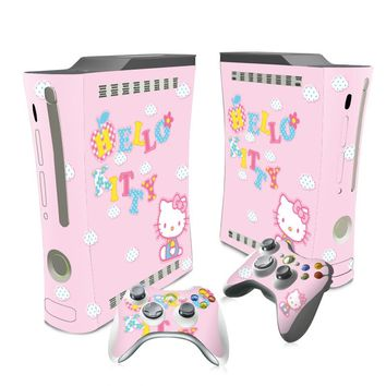 Vinyl Stickers Skin For Xbox 360 Console+2 Controllers Skin Decals