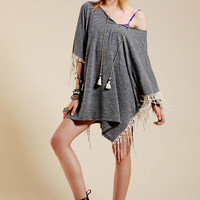 Lucky Brand Fringe Poncho Cover-Up