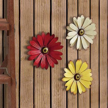 Set of 3 Garden Wall Flower Decor