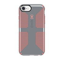 Speck Products CandyShell Grip Cell Phone Case for iPhone 7/6S/6 -  Nickel Grey/Warning Orange