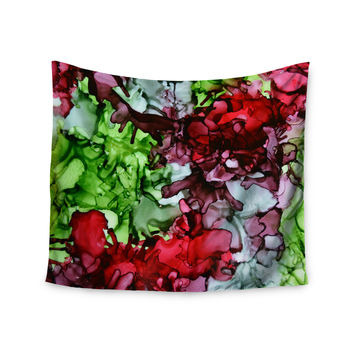 "Claire Day ""TMNT"" Green Maroon Wall Tapestry"