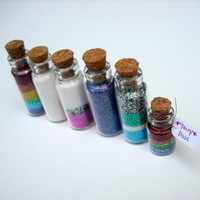 Fairy Dust Jars set of 5 Magic Dust Pixie by thesetinytreasures