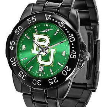 Baylor University Bears Mens Watch Fantom Gunmetal Finish Green Dial