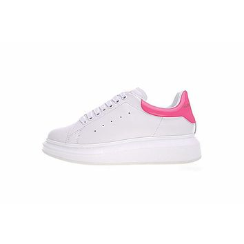 alexander mcqueen sole white pink sneakers