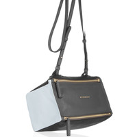 Givenchy|Mini Pandora bag in gray, black and white leather|NET-A-PORTER.COM