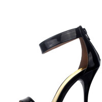 Classic Ankle Strap Heels - Black