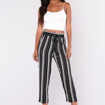 Key West Striped Pants - Black/White