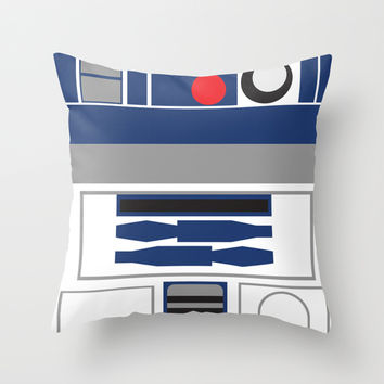 Star Wars - R2D2 Throw Pillow by Adrian Mentus