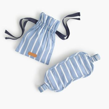 Travel eye mask in stripes