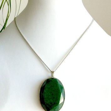 Faceted Green Aventurine Necklace