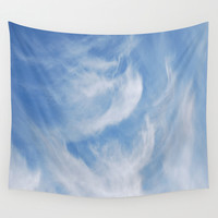 Clouds and sky Wall Tapestry by Laureenr