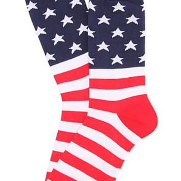 K. Bell The American Flag Socks in Red White Blue : Karmaloop.com - Global Concrete Culture