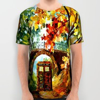 starry Abandoned phone box Under the bridge iPhone 4 4s 5 5c 6, pillow case, mugs and tshirt All Over Print Shirt by Three Second