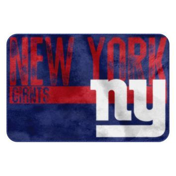 New York Giants NFL Worn Out Bath Mat