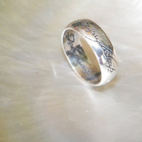 925 Sterling Silver One Ring of Power Lord of the Rings LOTR Choose Your Size