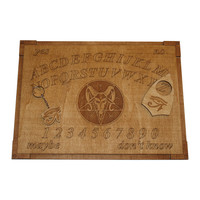 Devil Pentagram Wooden Ouija Board and planchette