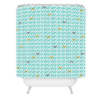 Heather Dutton Take Flight Aqua Shower Curtain