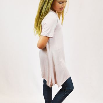 asymmetrical tunic top - pink
