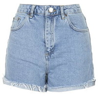 MOTO Bleach Girlfriend Shorts - Blue