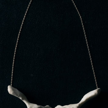 Collarbone Necklace - Cruelty Free 3-D Printed