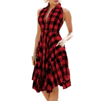 996b8c99a3 Best Womens Red Plaid Dresses Products on Wanelo