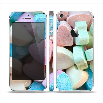 The Multicolored Candy Hearts Skin Set for the Apple iPhone 5