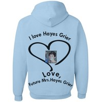 Hayes grier : Custom Unisex Basic JERZEES NuBlend Heavyweight Hoodie - Customized Girl