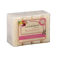 A La Maison Bar Soap - Thousand Flowers - 3.5 oz Each / Pack of 4