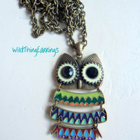 Hoot The Dangling Owl Pendant Necklace