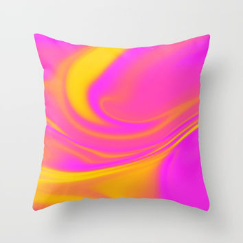 Abstract Fluid 5 Throw Pillow by Arrowhead Art