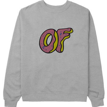 odd future sweater Gray Sweatshirt Crewneck Men or Women for Unisex Size with variant colour