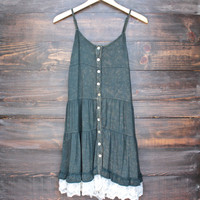 mimosas on the beach dress - vintage navy