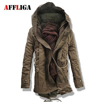 2017 New Winter Jackets Thick Warm Men Parkas Hooded Windproof Men Coat Cotton-Padded Military Jacket Brand Clothing M--5XL