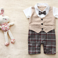 Plaid Baby Boy 4pc