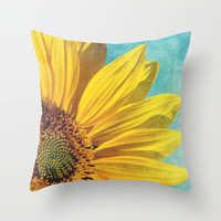 pure sunshine Throw Pillow by Sylvia Cook Photography