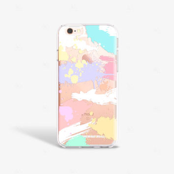 Paint iPhone 7 Case Clear Pastel iPhone 7 Case Clear iPhone 7 plus Case Clear Samsung Galaxy S7 Samsung Galaxy S7 Case Clear Pastel iPhone