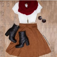 Golden Hour Suede Skirt