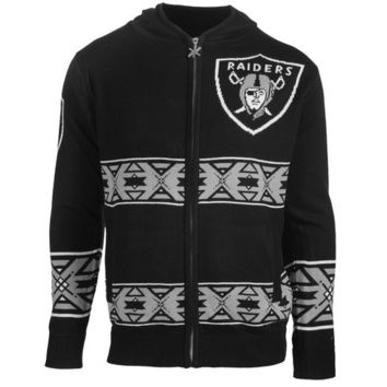 OAKLAND RAIDERS OFFICIAL NFL FULL ZIP HOODED SWEATSHIRT BY KLEW