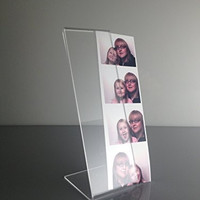 T'z Tagz Brand 20 Acrylic Photo Booth Frames, Slanted for 2x6 Picture Strips
