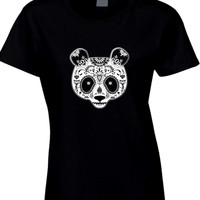 Day Of The Dead Panda Womens T Shirt